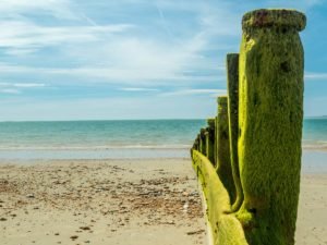 Sandy Beaches and camping by the sea in the Southcoast, hampshire at the Oven Campsite